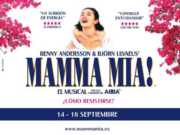 Actividades en Salamanca: 9-11 de septiembre de 2016- Musical MAMMA MIA! en Salamanca