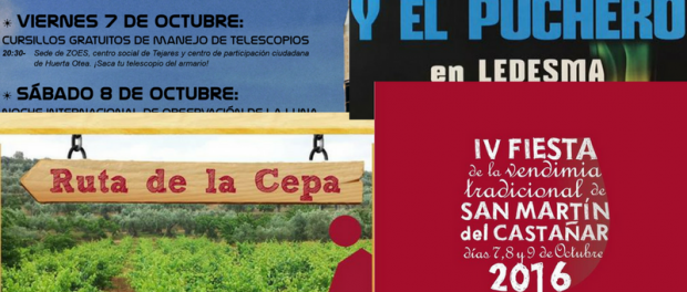 Actividades en Salamanca: 7- 9 de octubre de 2016
