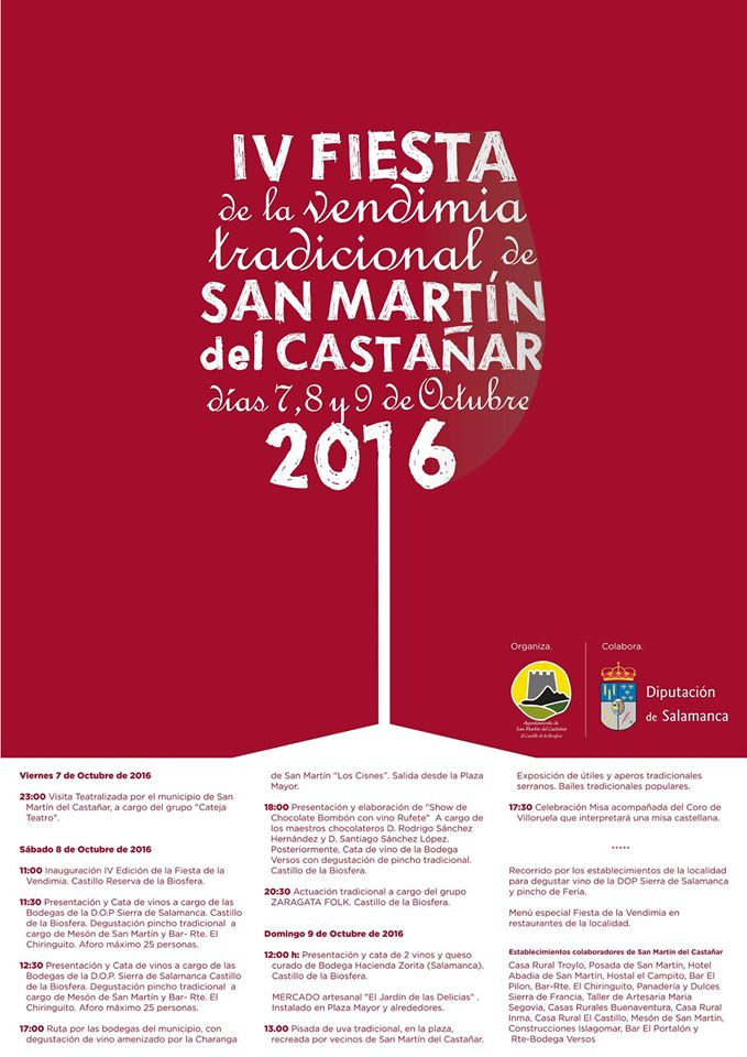 Actividades en Salamanca: Fiesta de la Vendimia en San Martín del Castañar 2016